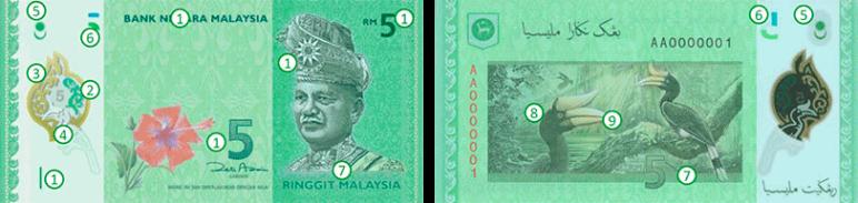 RM5 Ringgit Malaysia (4th Series)